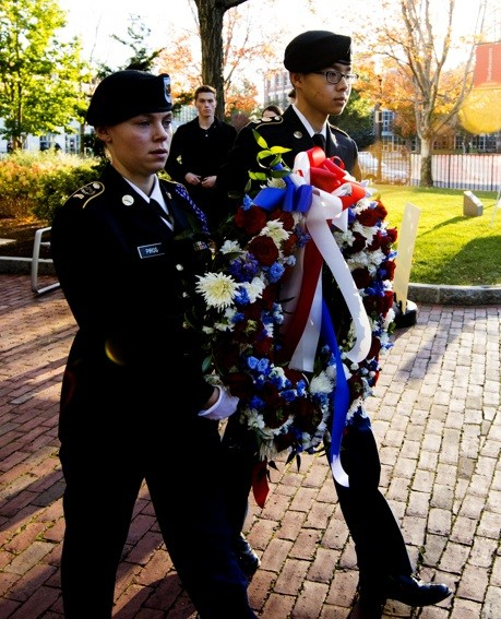 11/10/17 - BOSTON, MA. - Northeastern University on Friday Nov. 10, 2016 held its annual Veterans Day ceremony to honor pa...