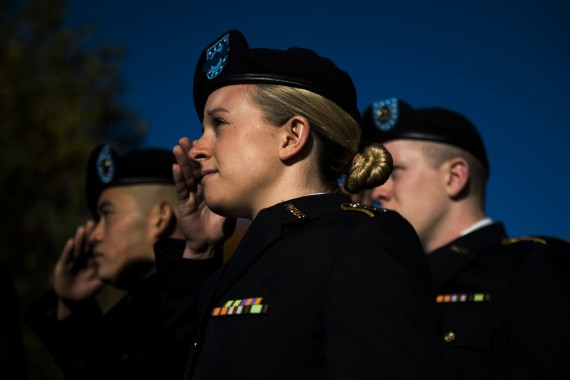 11/11/16 - BOSTON, MA. - Northeastern University on Friday Nov. 11, 2016 held its annual Veterans Day ceremony to honor pa...